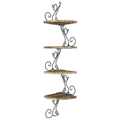 Alsonerbay Corner Shelf, Corner Shelves, 4-Shelves Wall Mounted Corner Shelf