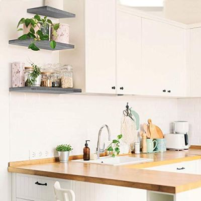 Under.Stated Wall Mounted Floating Shelves - Rustic MDF