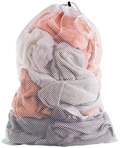 """Commercial Mesh Laundry Bag - Sturdy Mesh Material with Drawstring Closure. Ideal Machine Washable Mesh Laundry Bag for Factories, College, Dorm and Apartment Dwellers. (24"""" x 36"""" 