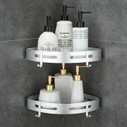 Hoomtaook Corner Caddy Bathroom Shower Shelf Wall Mounted No Drilling