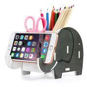 COOLBROS Elephant Pencil Holder with Phone Holder Desk Organizer Desktop