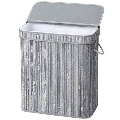 SONGMICS Bamboo Laundry Hamper, 100L Foldable Storage Basket
