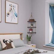 TIMEYARD Hanging Corner Wall Shelf, Distressed Brown Wood Jute Rope