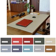 ZSZBACE Leather Desk Mat- Extended Large Gaming Mouse Pad 27'' 17''