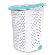 Home Logic 2.0-Bu. Rolling Laundry Hamper Container Bin Storage