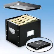 Snap-N-Store Letter-Size File Box, Black