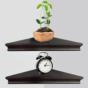 Greenco Floating Shelves, Espresso Finish