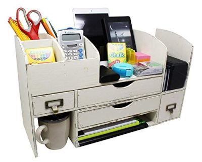 Executive Office Solutions Adjustable Wooden Desk Organizer for Desktop