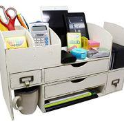 Executive Office Solutions Adjustable Wooden Desk Organizer for Desktop