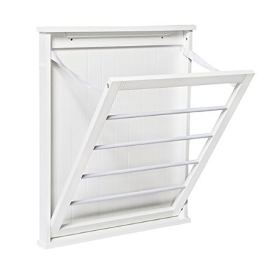 Honey-Can-Do DRY-04446 Small Wall-Mounted Drying Rack, White