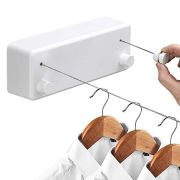 Hoimpro Retractable Clothesline with Adjustable Stainless Steel Double Rope