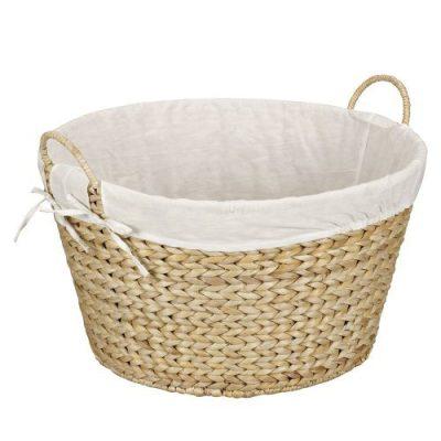 Household Essentials Round Wicker Laundry Basket Hamper