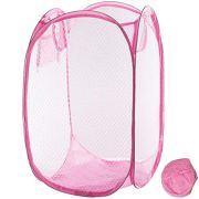 Qtopun Mesh Popup Laundry Hamper Foldable Laundry Basket Portable