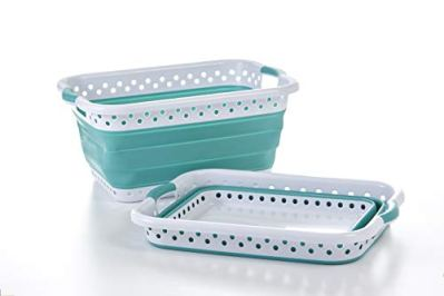 Pop & Load Collapse & Store Collapsible Basket Ultra-Slim Utility POP & LOAD