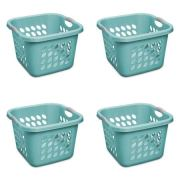 STERILITE 1.5 Bushel Square Ultra Laundry Basket, Teal Splash (4 Units)