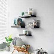 WELLAND Set of 2 Floating Shelves Wall Mounted Shelf, for Home Decor