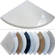 "Premium Marble Corner Shelf - Shower Soap Dish - 8"" Natural Stone Bathroom"