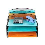 Veesun Desk Organizer,Mesh Desktop File Organizer Letter Paper Tray Holder