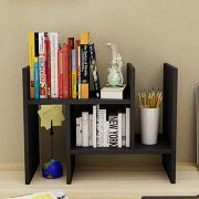 Hossejoy Wood Adjustable Desktop Storage Organizer Display Shelf Rack