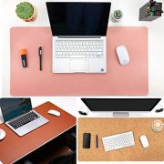 Aothia Eco-Friendly Natural Cork & Leather Double-Sided Office Desk Mat