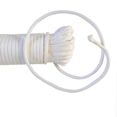 houert Cotton Clothesline Rope, 3/16Inch X 100FT, All-Purpose Rope for Laundry Line Dryer (1 Solid Rope)