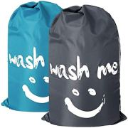 iLiveX Laundry Bag, 2 Pack Extra Large Travel Laundry Bags, Ripstop Dirty Clothes