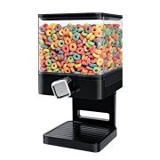 Zevro Compact Dry Food Dispenser, Single Control, Black/Chrome