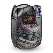 Melvado Extra Large Pop-up Foldable Black Mesh Laundry Hamper Rectangle