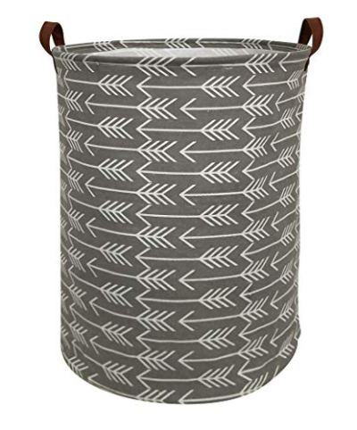 HIYAGON Large Storage Baskets,Waterproof Laundry Baskets,Collapsible Canvas
