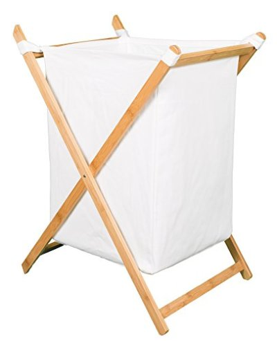 BIRDROCK HOME X Bamboo Hamper - Made of Natural Bamboo - Includes Machine Washable Cotton Canvas Liner - Lightweight for Easy Transportation