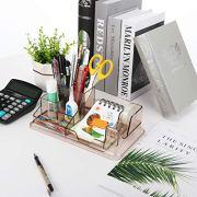 URbantin Desk Organizer, Pencil Holder Pen Holders, Acrylic Office Desk Supplies