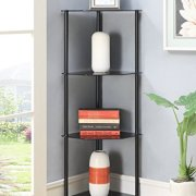 Convenience Concepts Designs2Go Classic Glass 4 Tier Corner Shelf