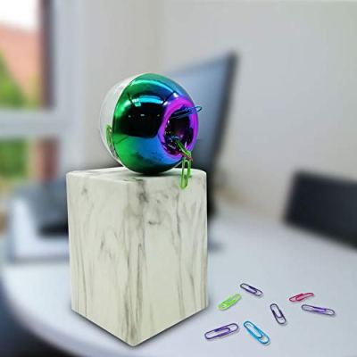 MultiBey Holographic Colorful Paper Clip Dispensers Red Blue Green Purple Smooth