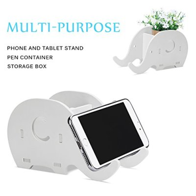 COOLOO Pencil Holder Cell Phone Stand, Cute Elephant Office Accessories Tablet