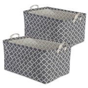 DII Cotton/Polyester Cube Laundry Basket, Perfect In Your Bedroom