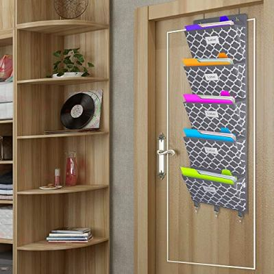 Over The Door File Organizer, Hanging Wall Mounted Storage Holder Pocket Chart