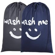 Chrislley 2 Pack 120L Nylon Laundry Bag Washable Laundry Bag Wash
