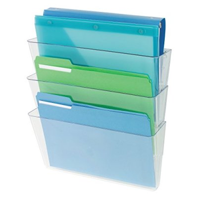 Deflecto Office DocuPocket , Wall File Organizer, Stackable, Letter Size