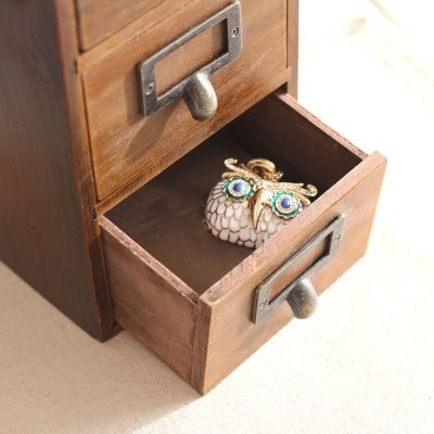 Solid Wood Vintage Large Jewelry Box