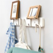 3/4/5 Hooks Creative Hook Wall Coat Rack