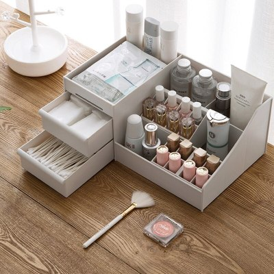 Plastic Makeup Organizer Multi-purpose Storage Box Jewelry