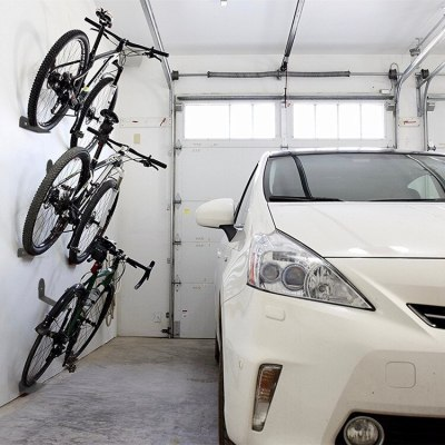 Bicycle Cycling Pedal Padlocks Holder Bike Tire Wall Mount
