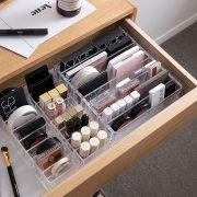 Portable Transparent Makeup Organizer Storage Box Make Up