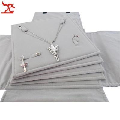 Velvet Jewelry Display Storage Travel Roll Bag