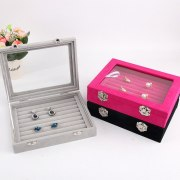 Jewelry Storage Organizer Earrings Ring Box Case