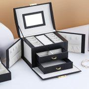 Jewelry Box Large Capacity Leather Storage Jewelry Box