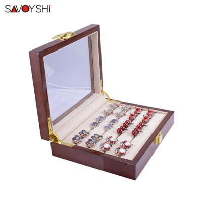 Glass Cufflinks Box for Men High Quality