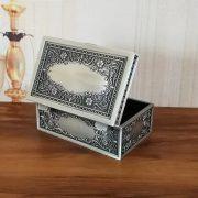 Vintage Jewelry Box Trinket Case Metal Box