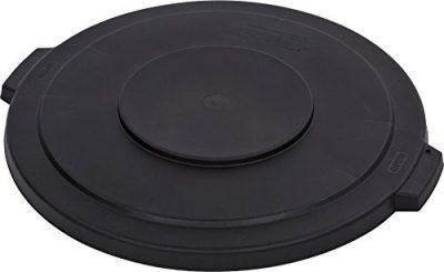 Carlisle Bronco Round Waste Container Lid, 32 gal, Black