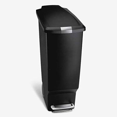 Kitchen Step Trash Can With Secure Slide Lock, 40 Liter